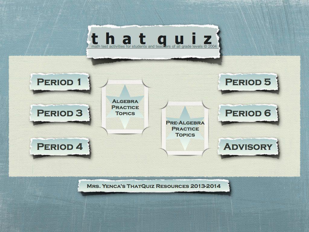 "Using ThatQuiz Before ""THE Quiz""   MathyCathy\'s Blog – Mrs. Cathy ..."