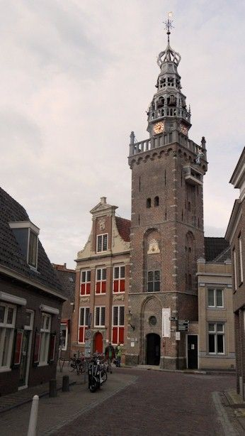 The Most Typical Tower In Monnickendam Speeltoren With A Show