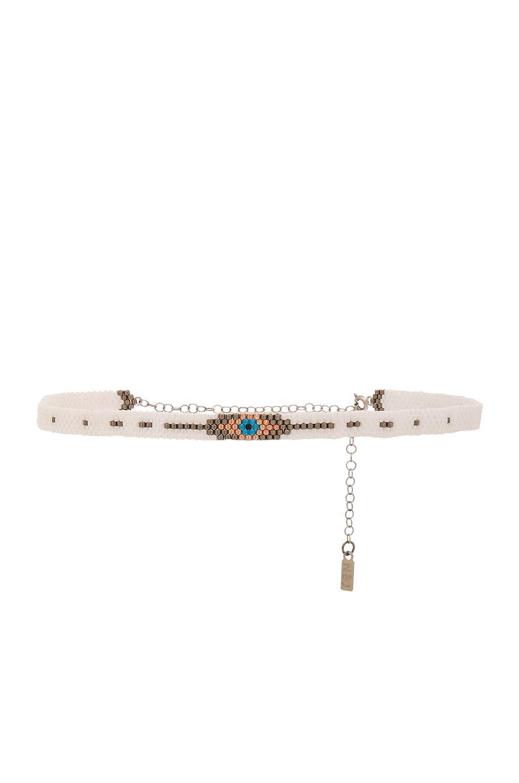 Natalie B Jewelry Koda Choker in White a1mz7w1vLr