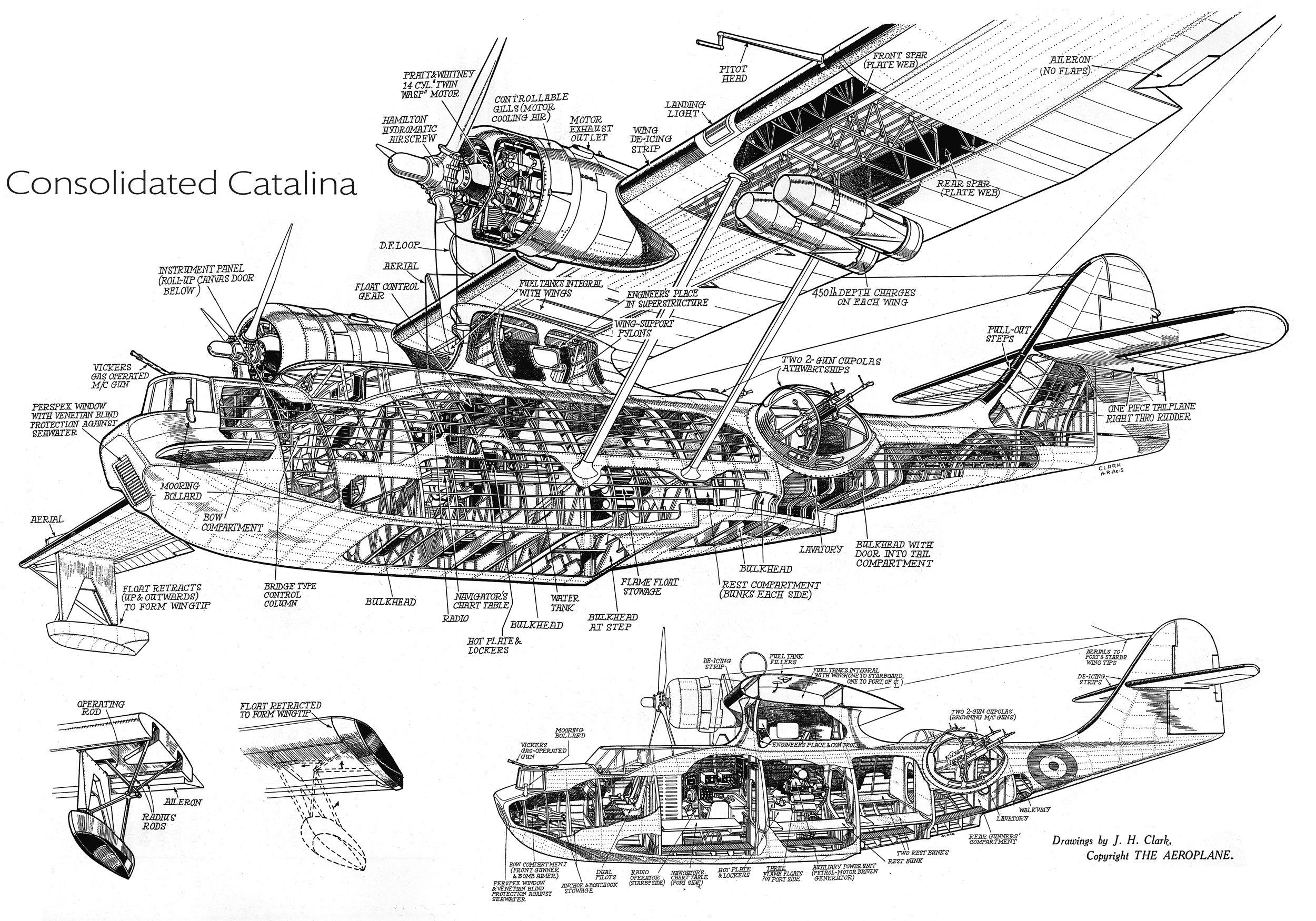 Consolidated Pby Catalina Cutaway