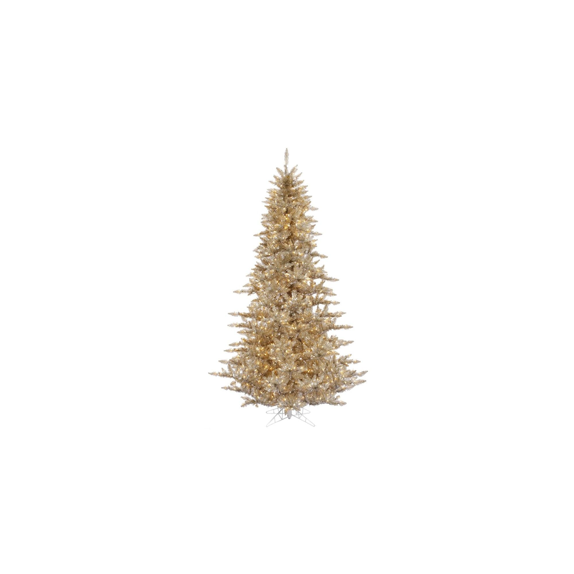 3ft Pre Lit Champagne (Beige) Artificial Christmas Tree With Warm White  Dura
