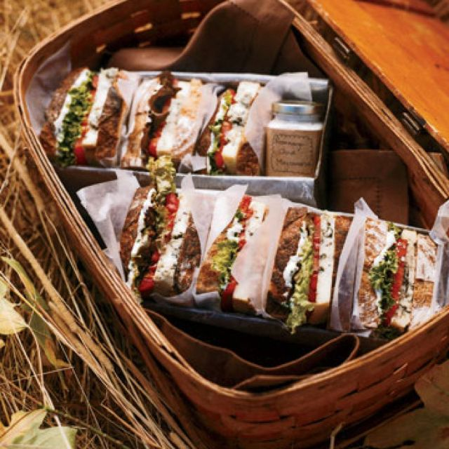 "Smoky ""BLT"" Even vegetarians can indulge in this decadent ""BLT"" — Rogue River Smoky Blue cheese, romaine lettuce, beefsteak tomatoes, and our Rosemary Mayonnaise give this sandwich its sophisticated flavor."