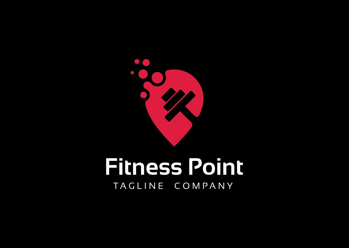 Fitness Point Logo Template 69026 Templatemonster Logo Templates Logo Logo Design