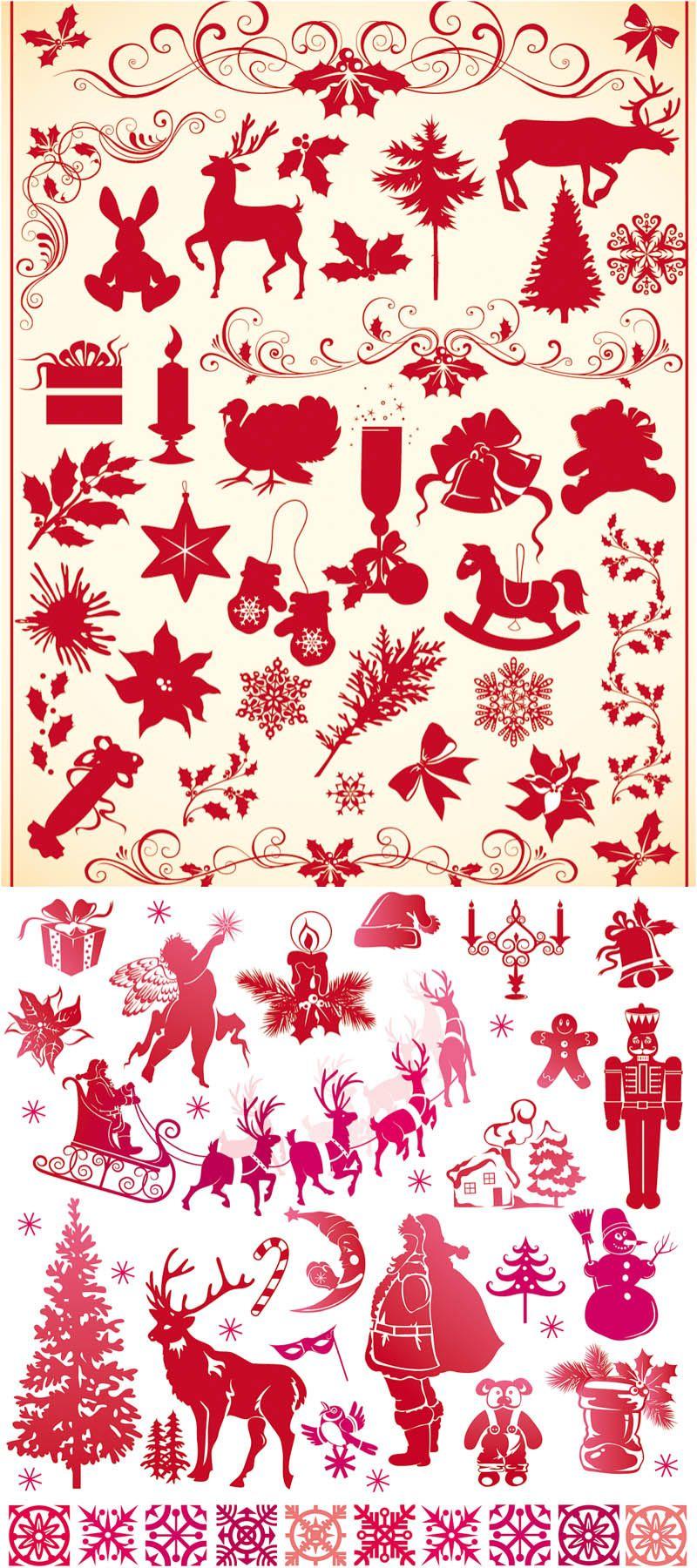 Christmas decor ornaments vector scroll saw ideas pinterest