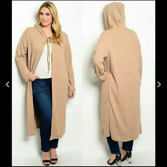 Plus size sweater hooded cardigan hoodie maxi 5X Boutique | Hooded ...