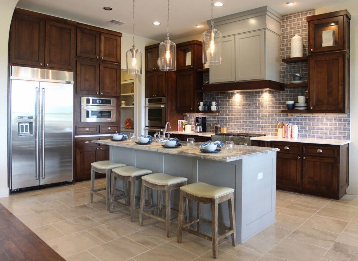 6 Great Ideas Should Your Kitchen Island Match Your Cabinets In 2020 Stained Kitchen Cabinets Brown Kitchen Cabinets Beautiful Kitchen Cabinets