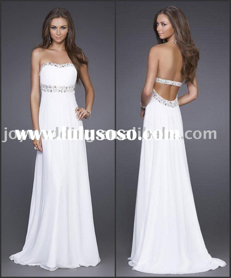 White long formal dress | Dresses | Pinterest