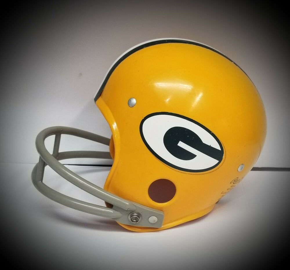 Vintage Green Bay Packers Bnfl Rawlings Football Helmet Classic Logo 1970 S Rawlings Greenbaypackers In 2020 Football Helmets Green Bay Packers Classic Logo
