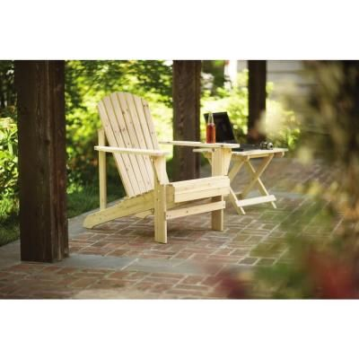 Unfinished Adirondack Patio Chair 11061 1 The Home Depot Adirondack Chairs Patio Patio Chairs Home Depot Adirondack Chairs