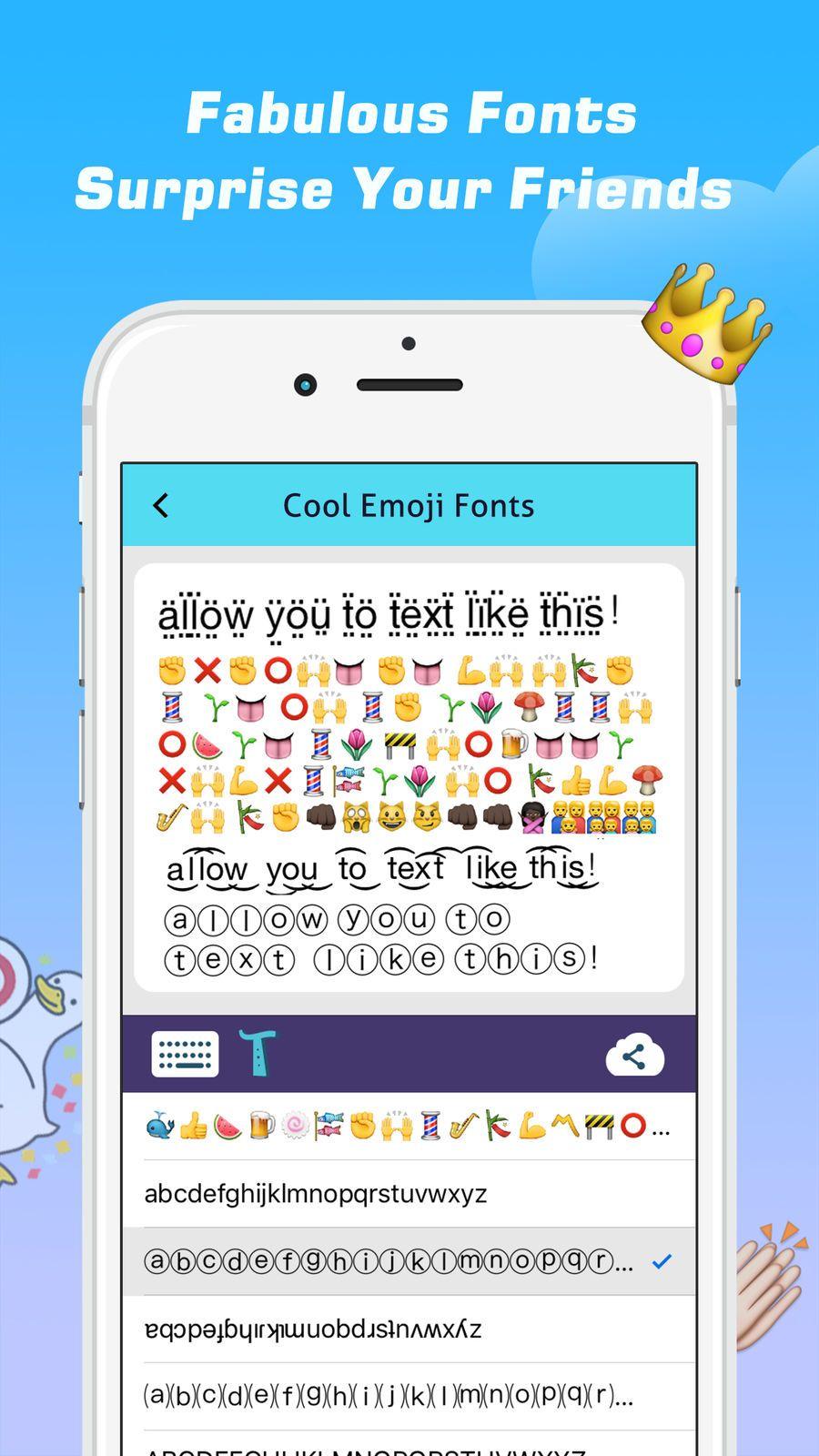 Emoji Free 鈥 20emoticons Art And Cool Fonts Keyboard Jinmin Keyboard Zhou Networking Cool Fonts Font Keyboard Cool Emoji