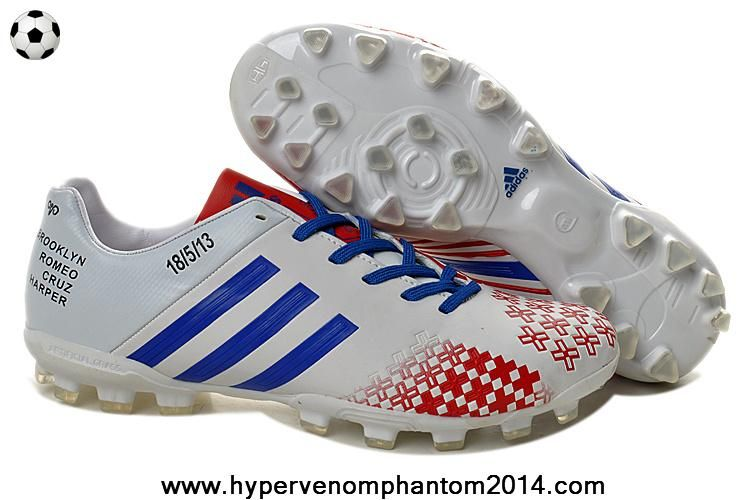 Latest Listing Discount Adidas Predator Lethal Zones II AG For David  Beckhams Retirement Game 2013 White Blue Red Football Shoes For  SaleFootball Boots For ... 946bb96877cc