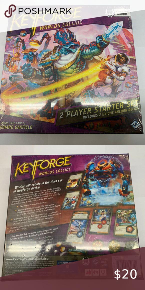 Brand New Keyforge World S Collide Factory Sealed Brand New Keyforge World S Collide Factory Sealed 2 Player Starter Set Nib Fantasy Card Games Brand New Seal