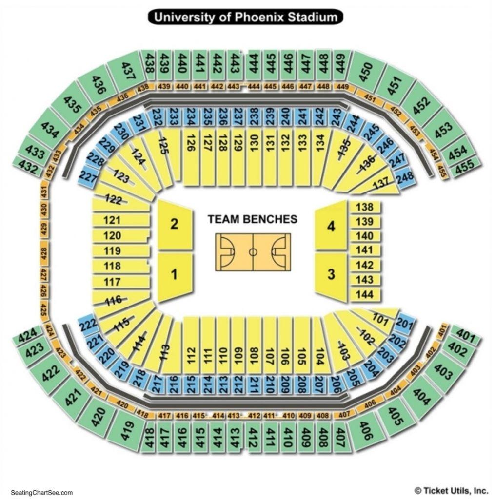 The Stylish Fiesta Bowl Seating Chart University Of Phoenix Stadium Seating Charts The Incredibles