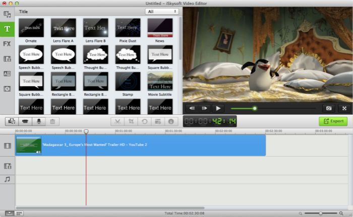 iskysoft video editor filmora