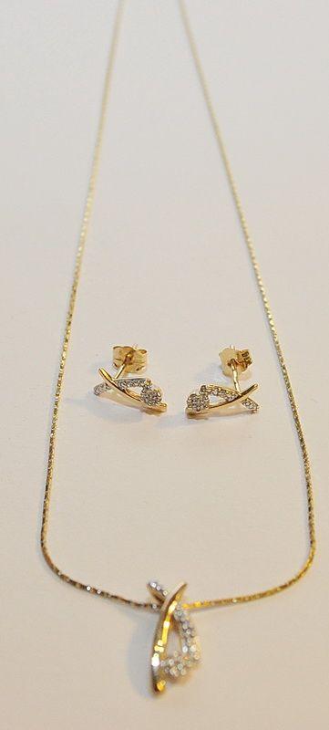 da1bf951f Arany nyaklánc + medál + fülbevaló szett 3.   Megvásárolható ...