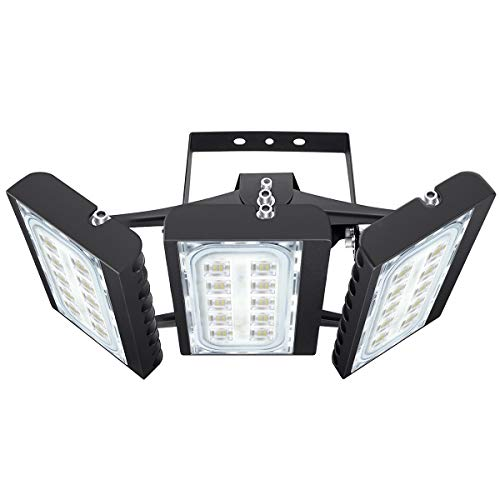 Osram Led Chips With 180 Osram Leds This 150w Triple Head Led Flood Light Produces Up To 13500lm High Brightness Led Flood Lights Security Lights Led Flood