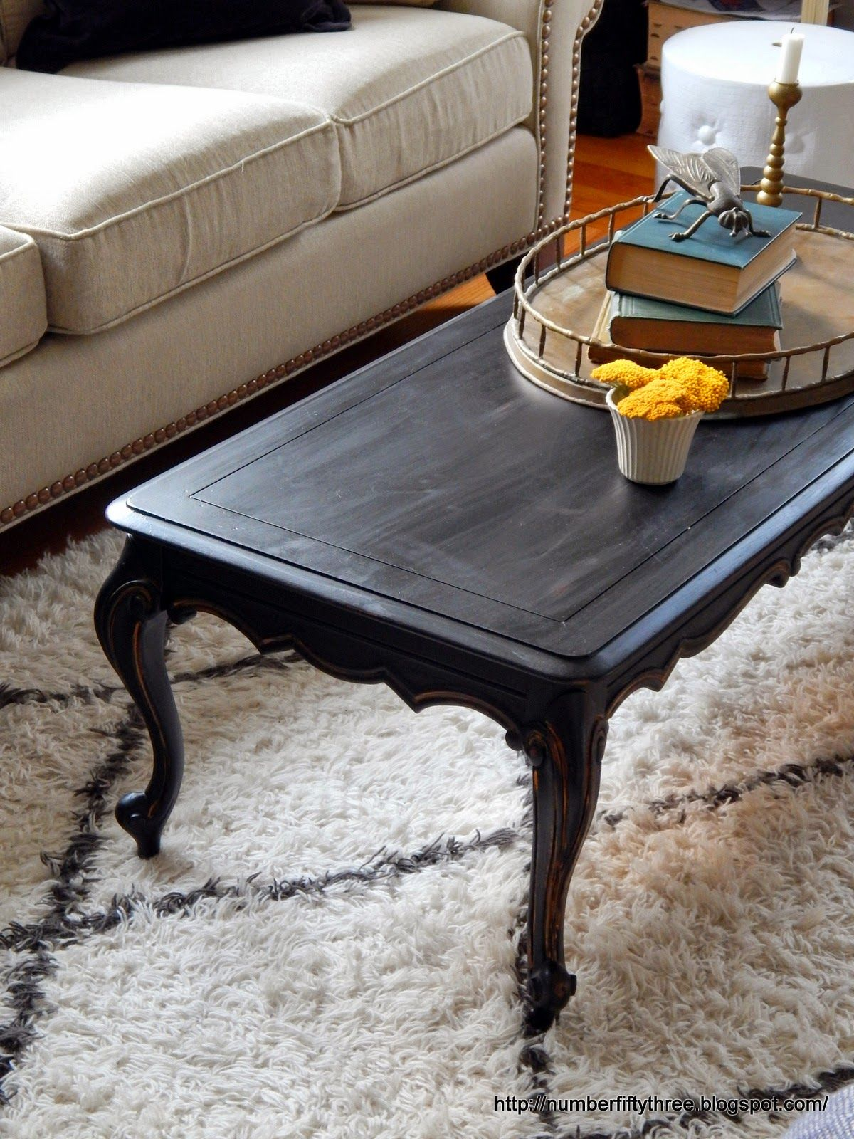 Clic Black Gold Coffee Table Painted Tables