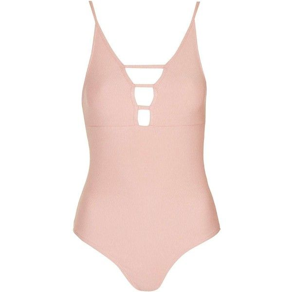TopShop Tall Ribbed T-Bar Body (105.365 COP) ❤ liked on Polyvore featuring tops, stretch top, base layer top, topshop tops, strappy top and ribbed top