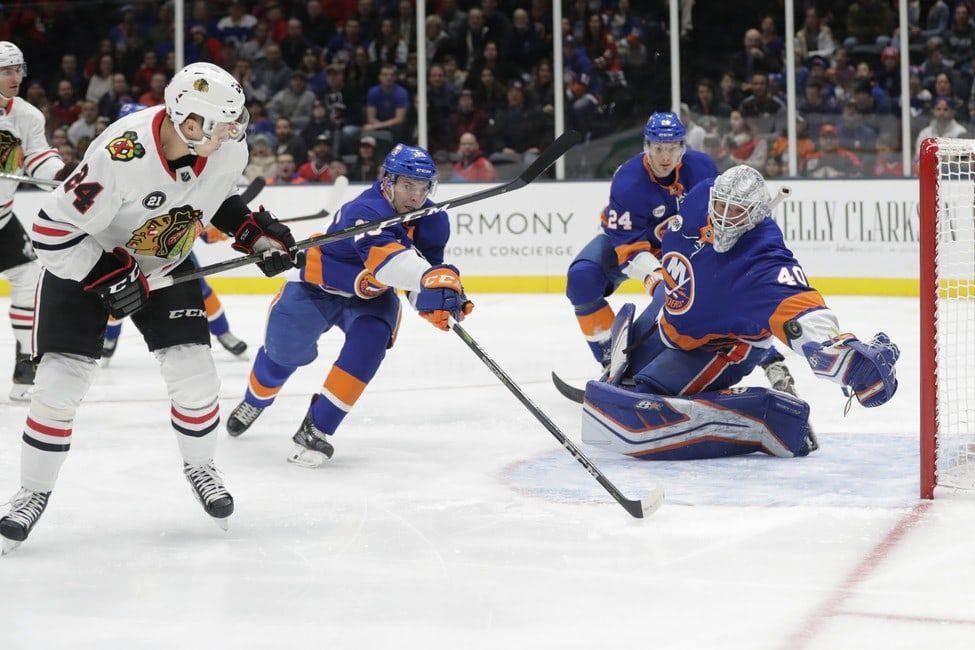 Islanders Beat Blackhawks Devon Toews Nets 1st Goal New York Islanders Chicago Blackhawks New York