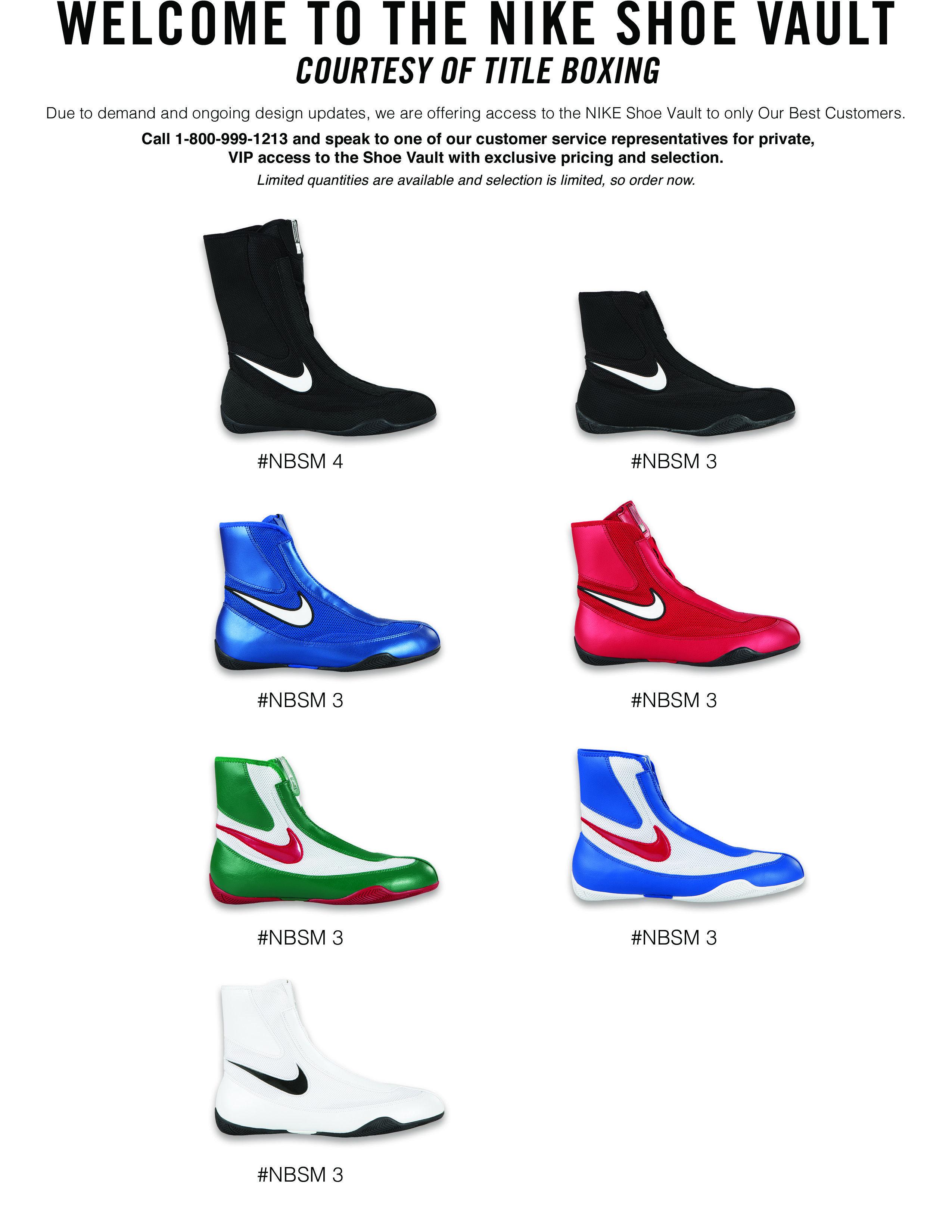Adentro bobina Física  Nike Boxing Shoe Vault | Boxing shoes, Nike training shoes, Shoes