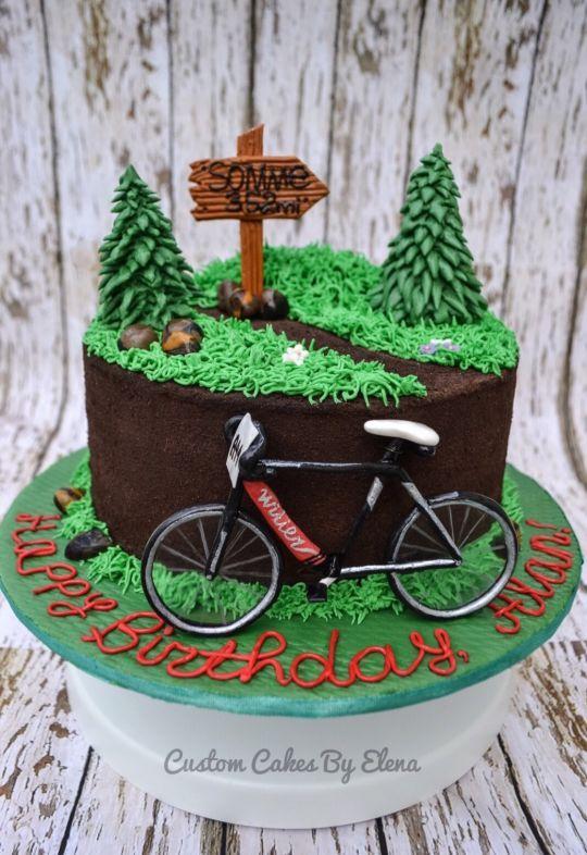 Bike Cake Mountain Bike Cake Bike Cakes Bicycle Cake