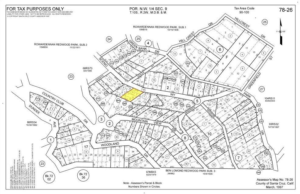 Structure On Residential Land In Santa Cruz County Ca Land Century Residential Land Land For Sale Santa Cruz County