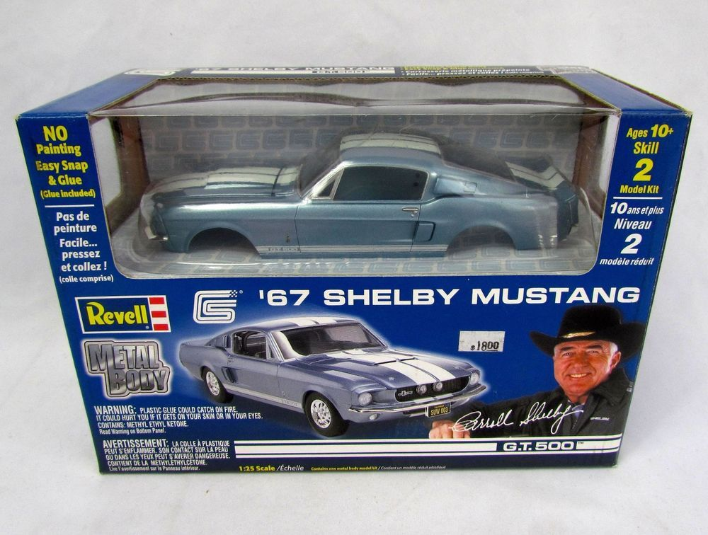 Revell 1 25 Scale 1967 67 Ford Shelby Mustang Gt 500 Metal Body Nib New Sealed Revell Mustang Shelby Ford Shelby Ford Mustang Shelby