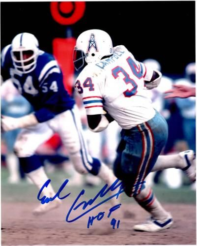 the latest b3917 96a33 Earl Campbell Signed 8x10 Photo with