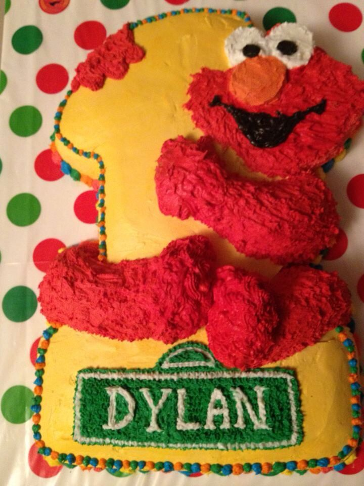 Elmo first birthday cake Cakes I Made Pinterest Elmo