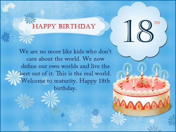 Happy 18th Birthday Messages Wishes