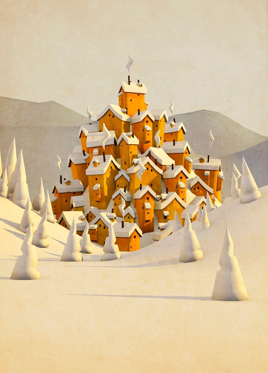 Een peperkoeken dorp