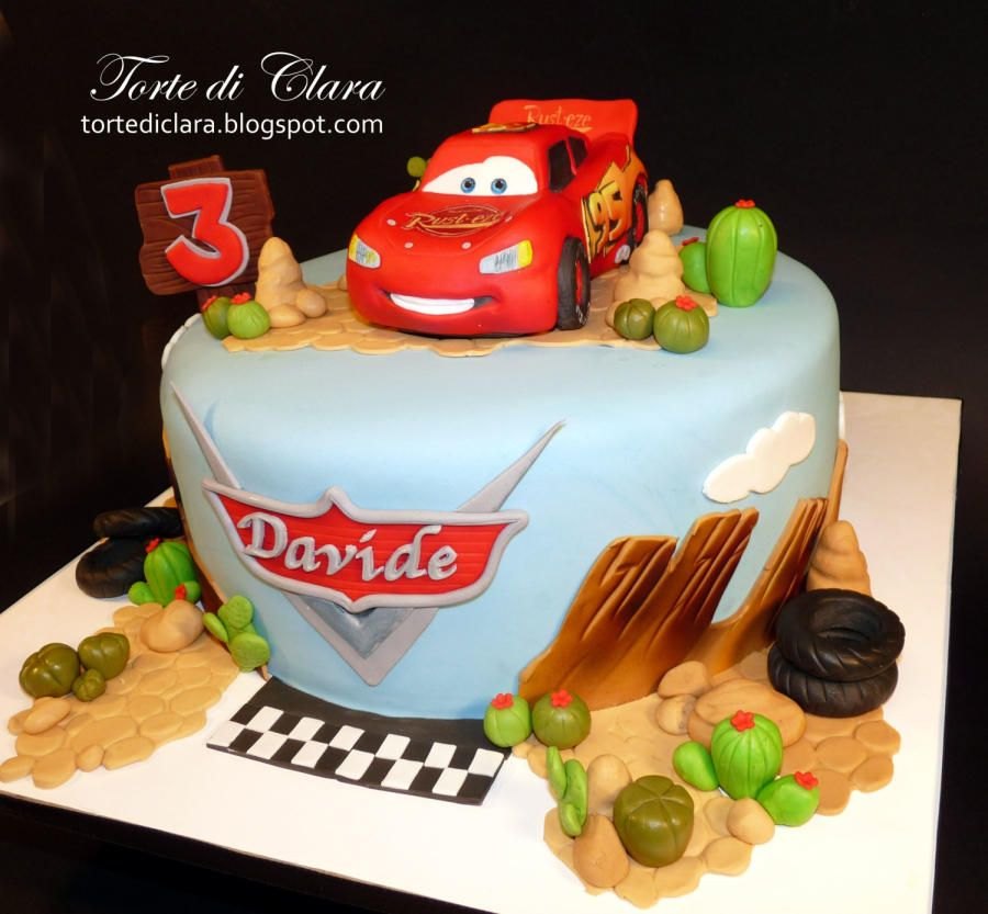 Cake Designs Disney Cars : Cars cake - Cake by Clara Lightning McQueen Disney Cars ...