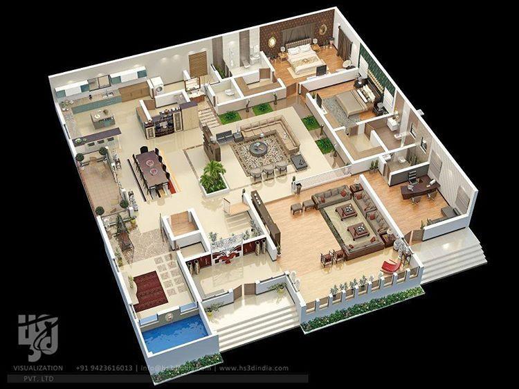 Nirlep Kaur Di Instagram Lavish Bungalow Floorplan Sectionals By Hs3dindia Archdaily Archilovers Architect Di 2020 Denah Rumah Rumah Indah Desain