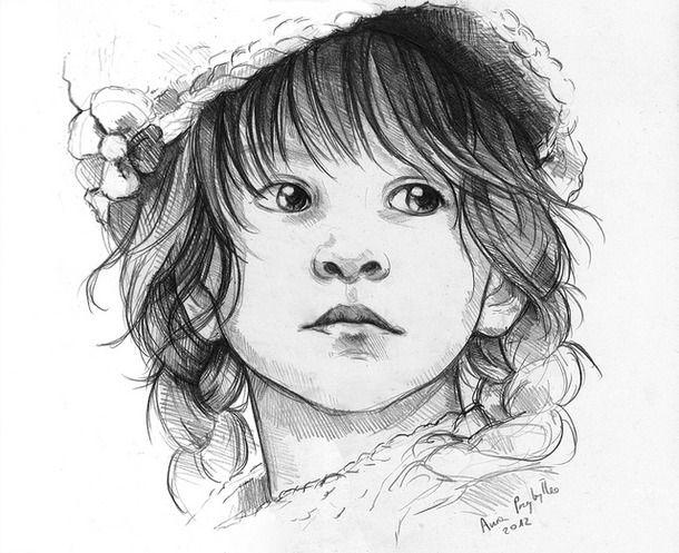 art, baby, child, drawing, flower, girl, hair, kid, pencil ...