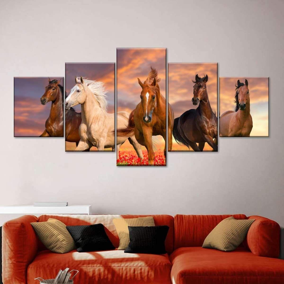 Mustang Horses Wall Art Horse Wall Art Horse Wall Horse Canvas Painting