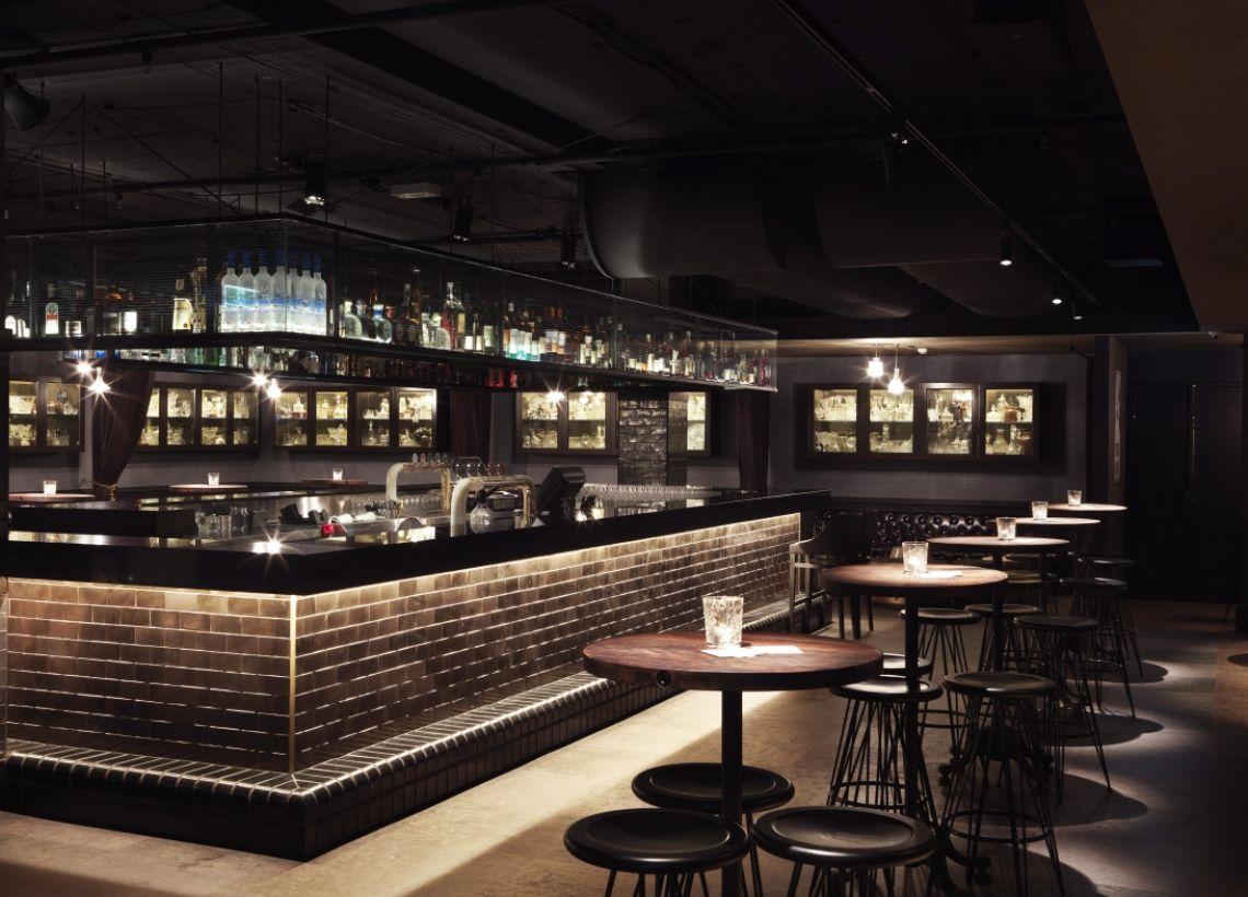 Over Bar Storagegreat Idea Modern Speakeasy