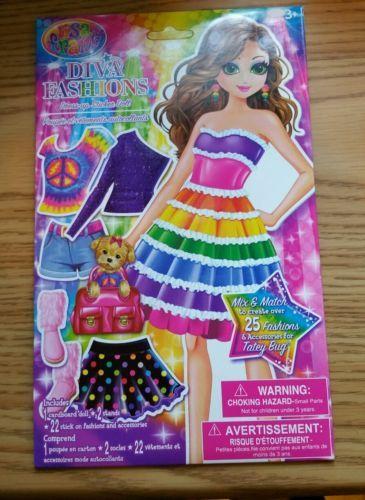 Lisa Frank -- Diva Fashions -- Dress-Up Sticker Doll -- make 25 outfits - http://dolls.goshoppins.com/paper-dolls/lisa-frank-diva-fashions-dress-up-sticker-doll-make-25-outfits/