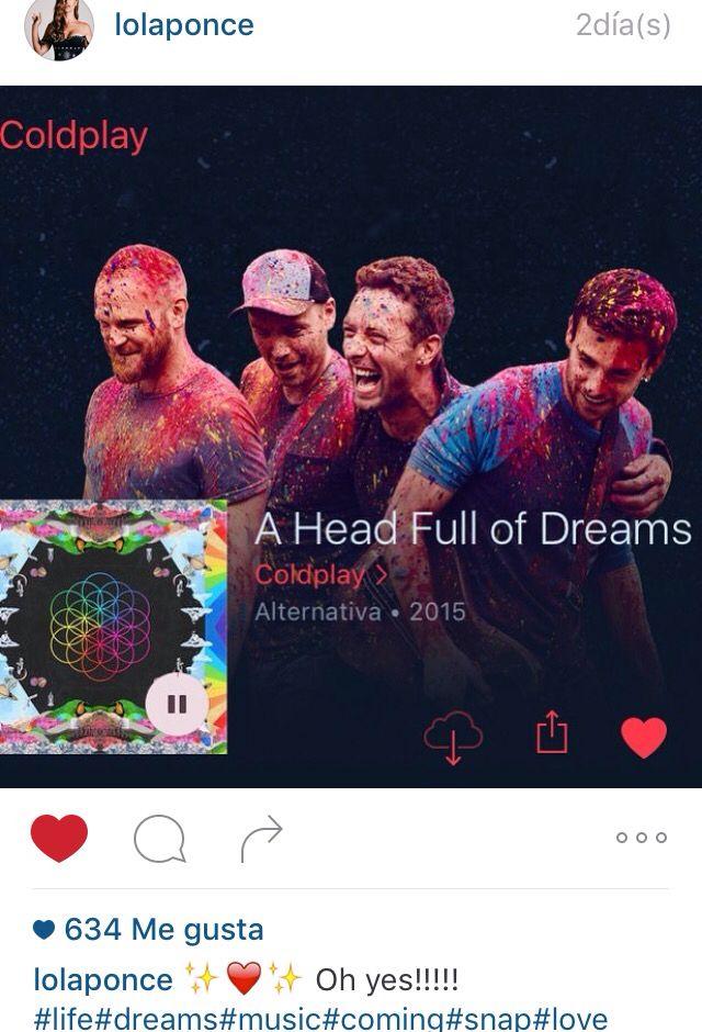 Lola escucha a Coldplay que amor