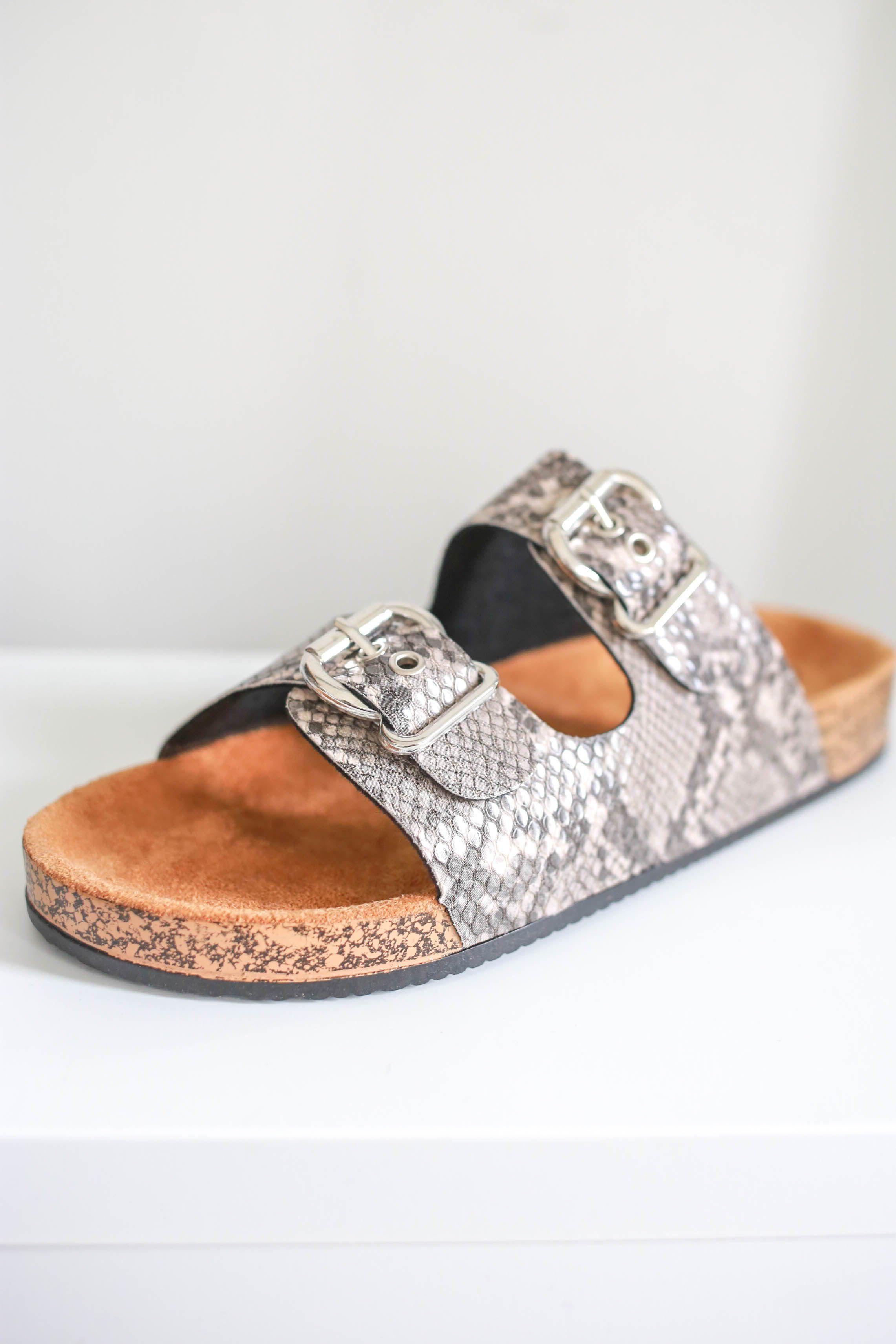 Snakeskin birkenstock from | Sandals, Cute