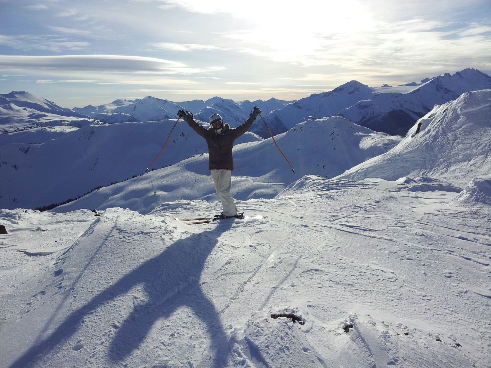 Top of the World... Insert yourself here!  This could be you this winter in Whistler!