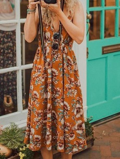 2019 year for women- Summer Floral dresses tumblr pictures