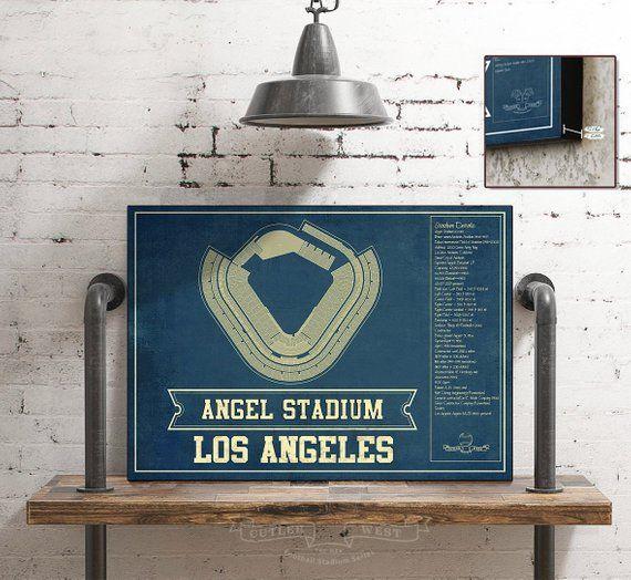 Los Angeles Angels Angel Stadium Vintage Seating Chart
