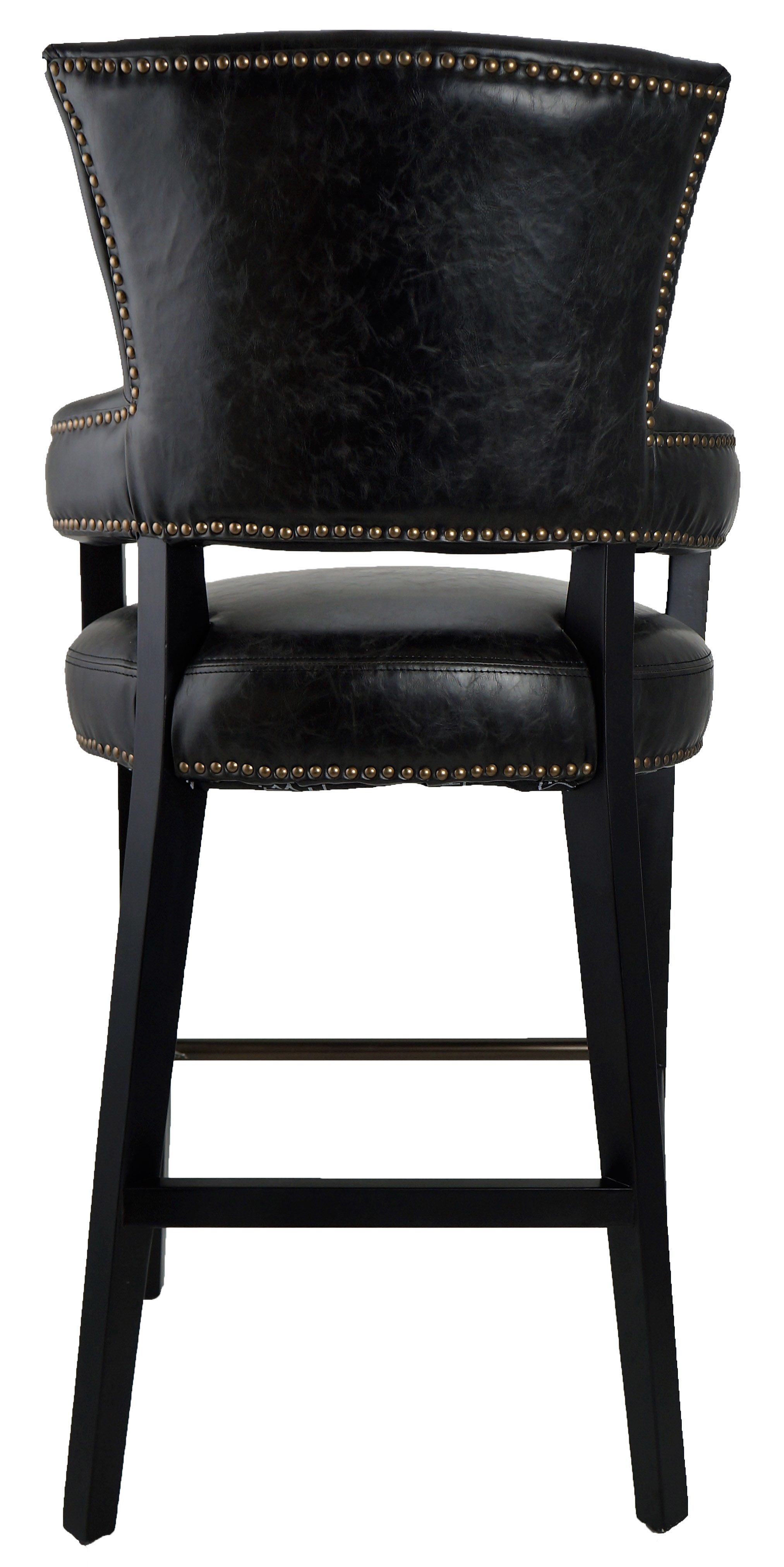 1360c541727 Bar Stools   Kitchen Counter Stools    Majestic Looking Bar n Counter Stool  with Arms in Black RV-4334 - ARTeFAC USA