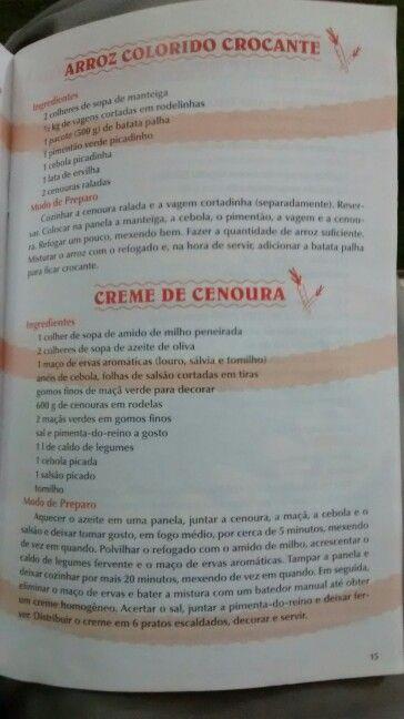 Arroz colorido crocante, creme de cenoura