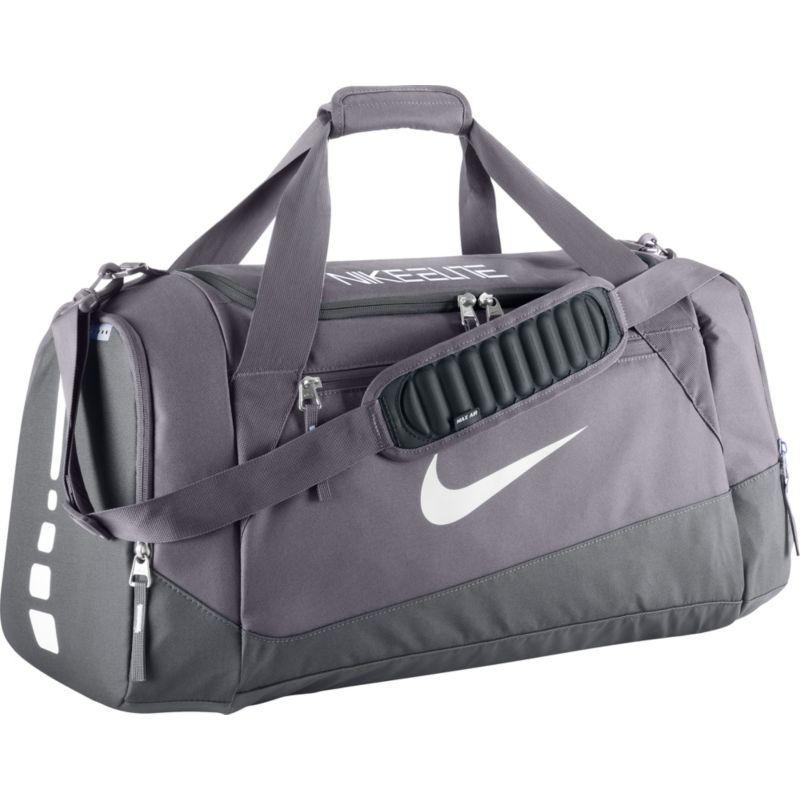 Nike Hoops Large Elite Max Air Team Duffle Bag Char Gry White Nike Duffle Bag Team Duffle Bags Gray Duffle Bag