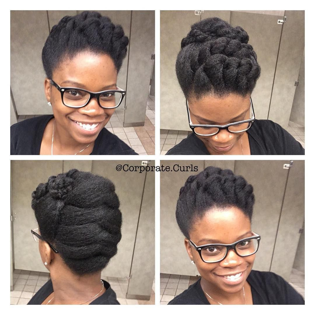 8 Natural Hairstyles For Work To Try This Week Naturally You Magazine In 2020 Natural Hair Styles Hair Styles Natural Hair Updo