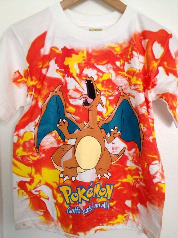de5b676f9 90s New Pokemon Charizard Tshirt Deadstock by gizmo2choco on Etsy, $18.00