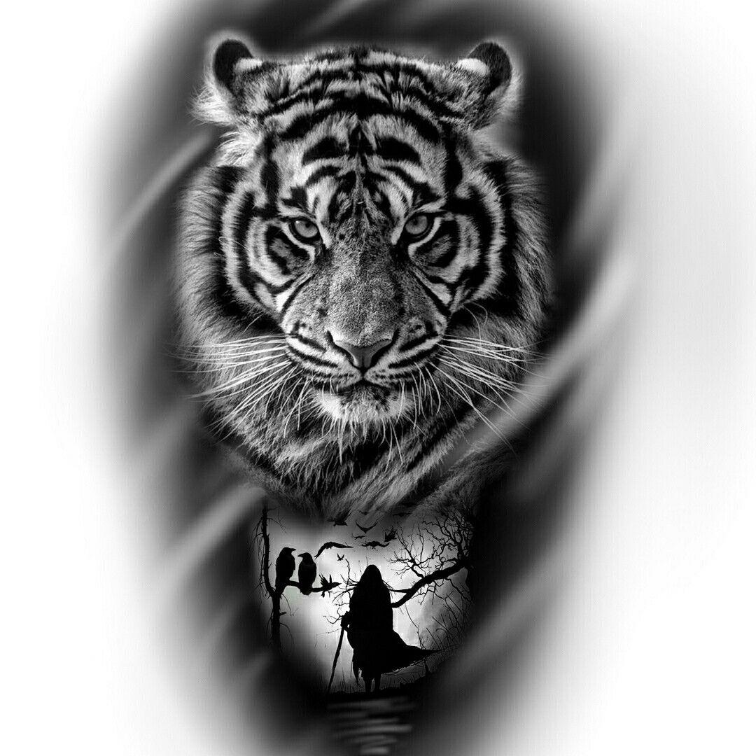 Pin De Amityville Op Em Tiger Tatuagem De Tigre Tatuagem De Animais Tattoo Preto E Cinza