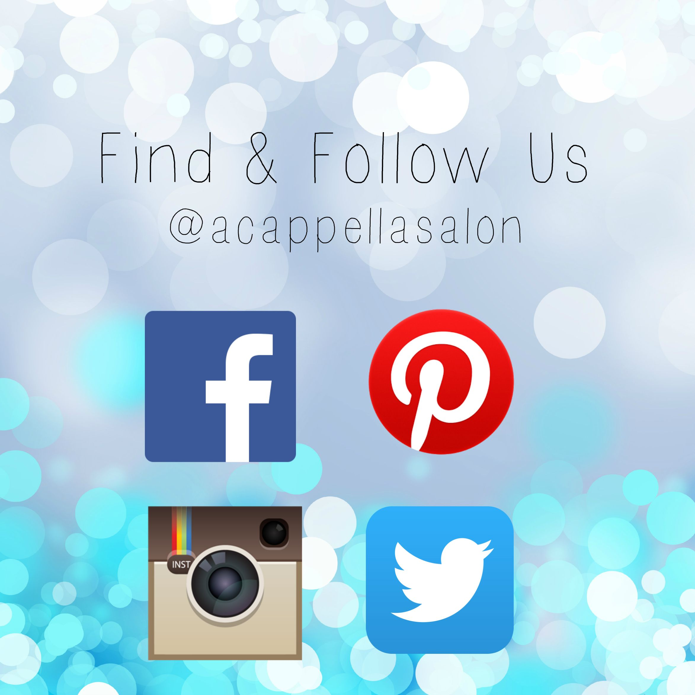 Find Us Follow Us Like Us Facebook Twitter Pinterest Instagram Socialmedia Hair Quotes Hair Designs Hair Salon