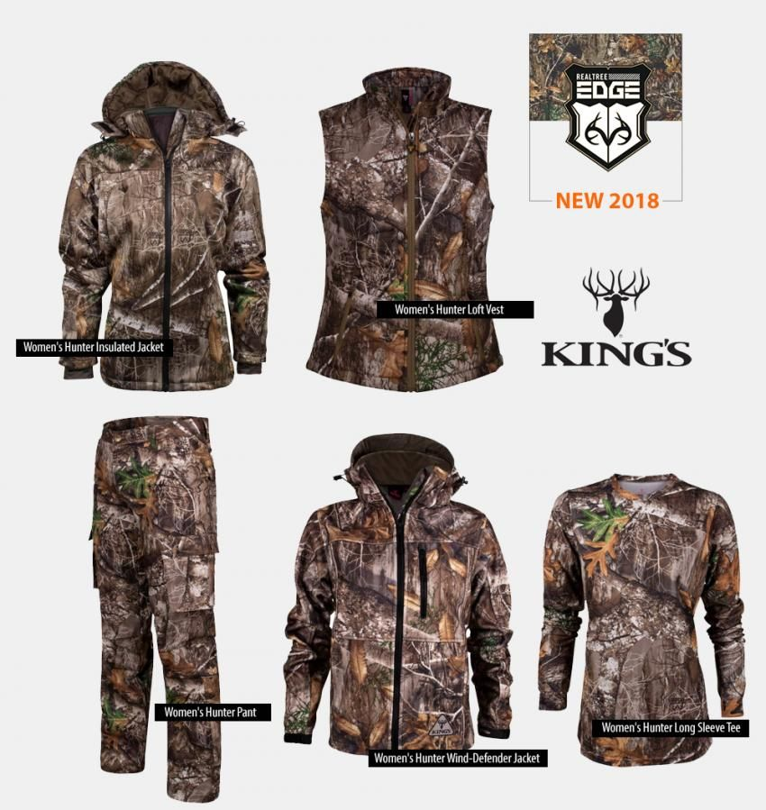 ff5f79dc1be2d King's Camo Realtree EDGE Women Hunting Clothing 2018 | What's New ...